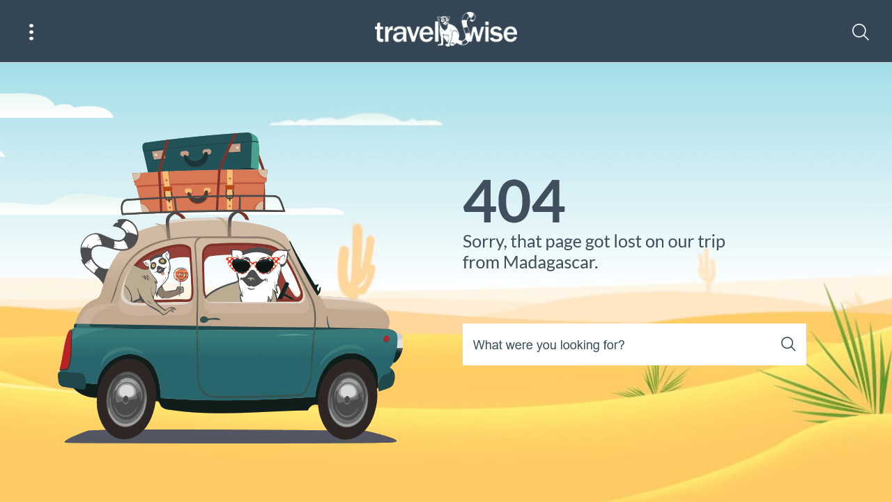 travel-wise.com 404 page