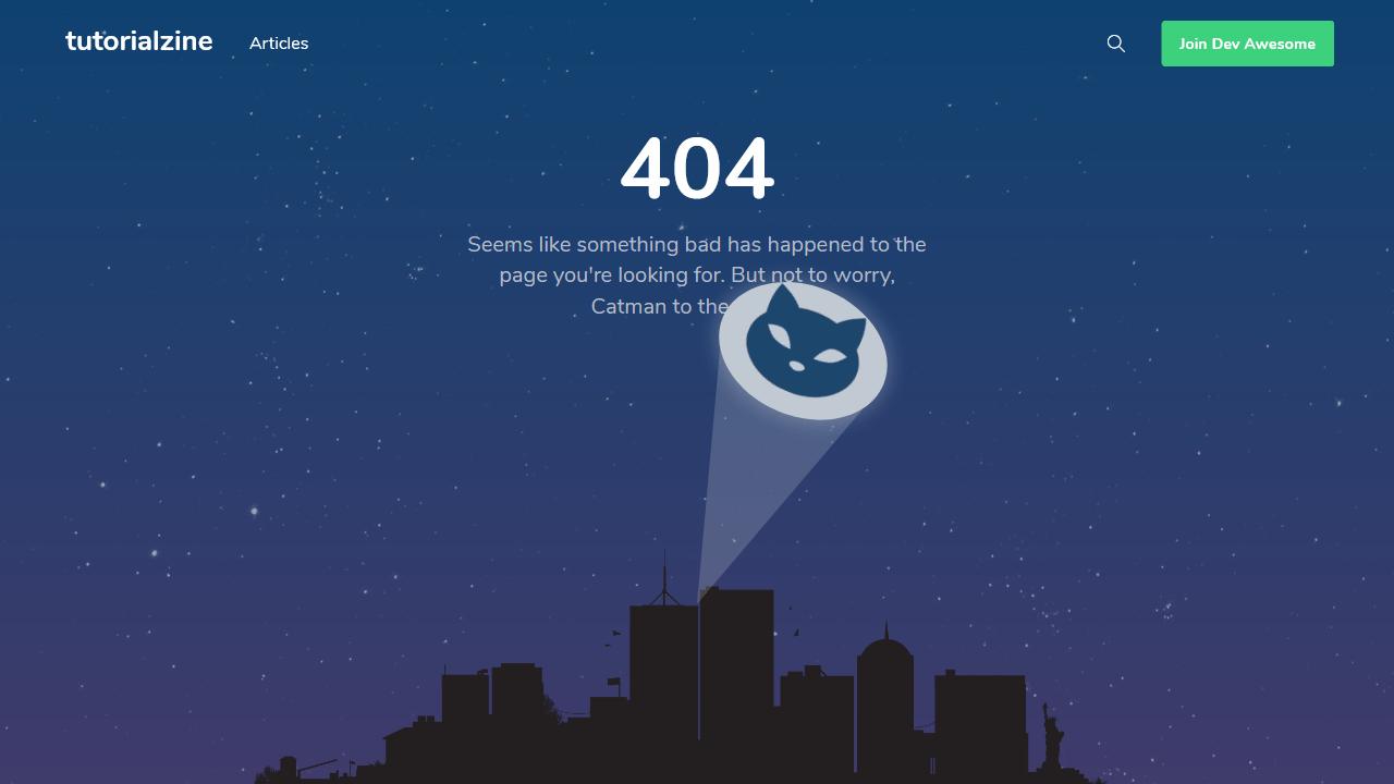 tutorialzine.com 404 page