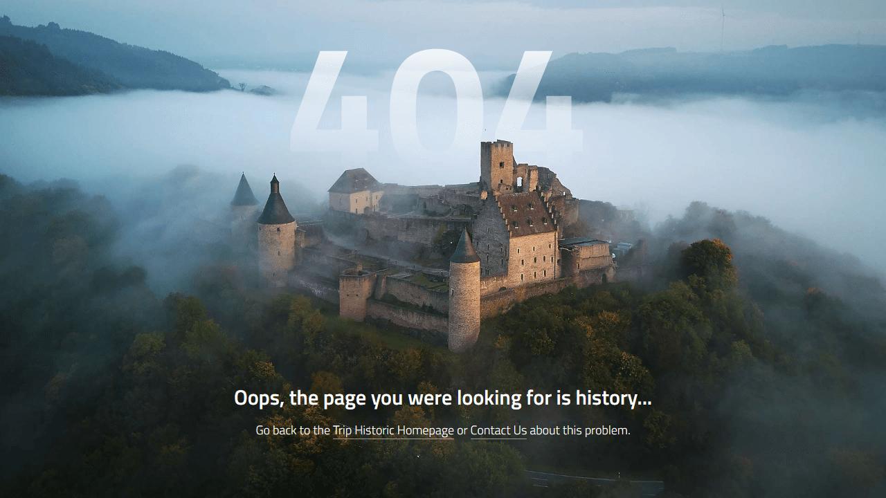 triphistoric.com 404 page