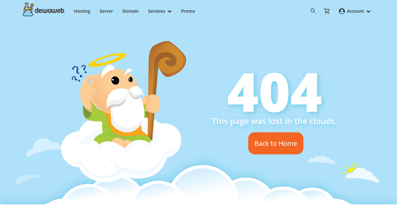 dewaweb.com 404 page