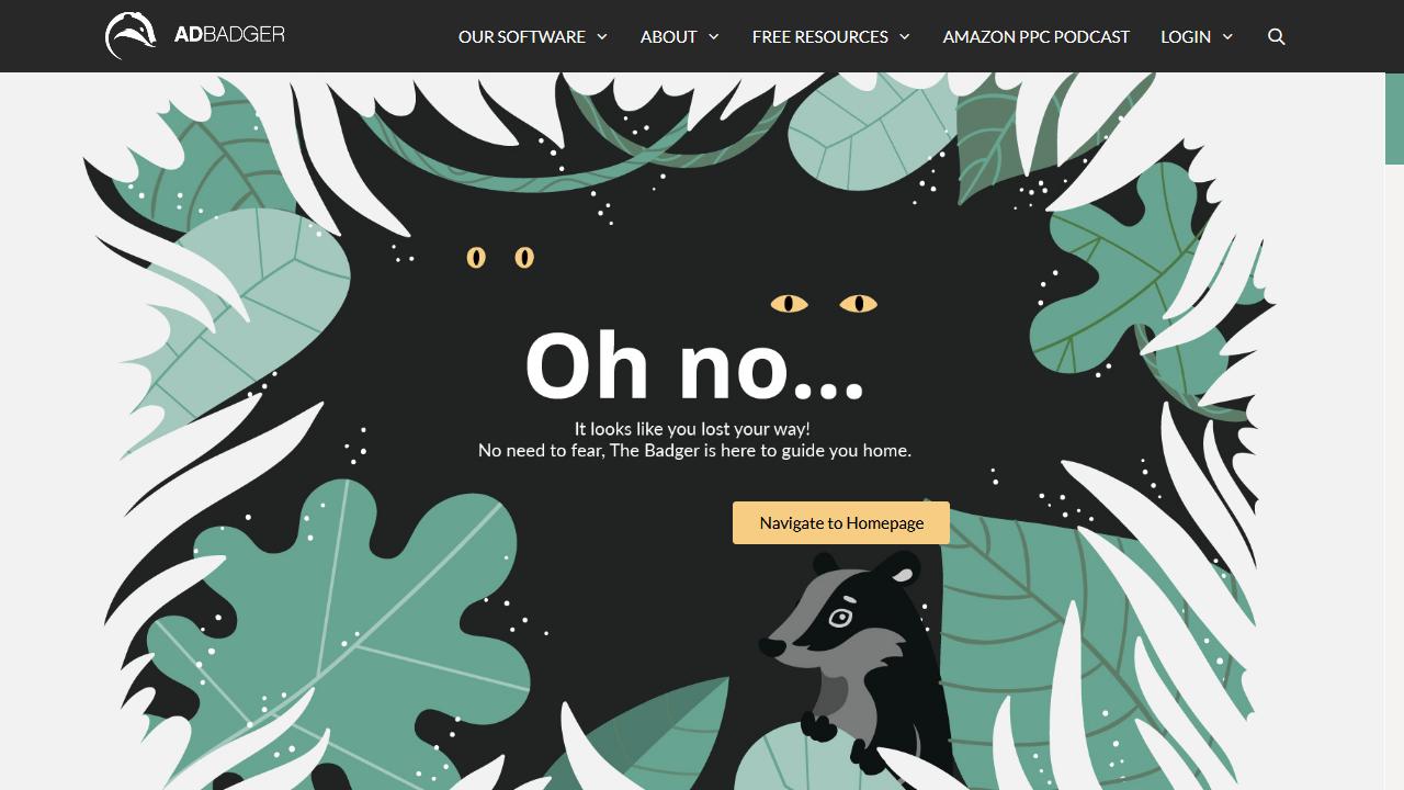 adbadger.com 404 page