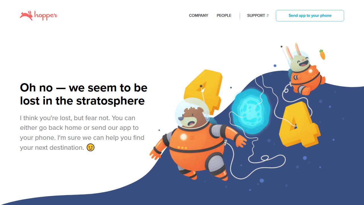 hopper.com 404 page