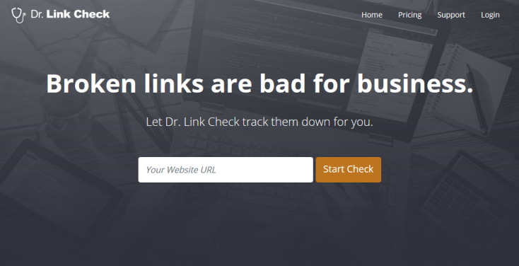 Dr. Link Check Homepage